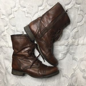 Steve Madden Troopa leather boots size 9
